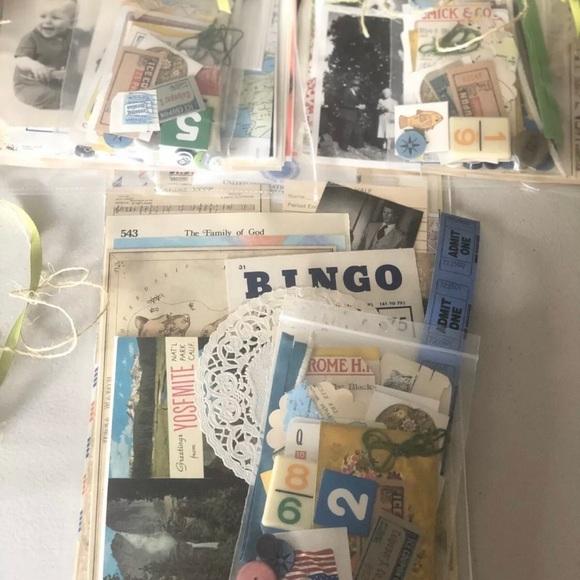 Vintage scrapbook 100+ Journal Photo Paper Craft